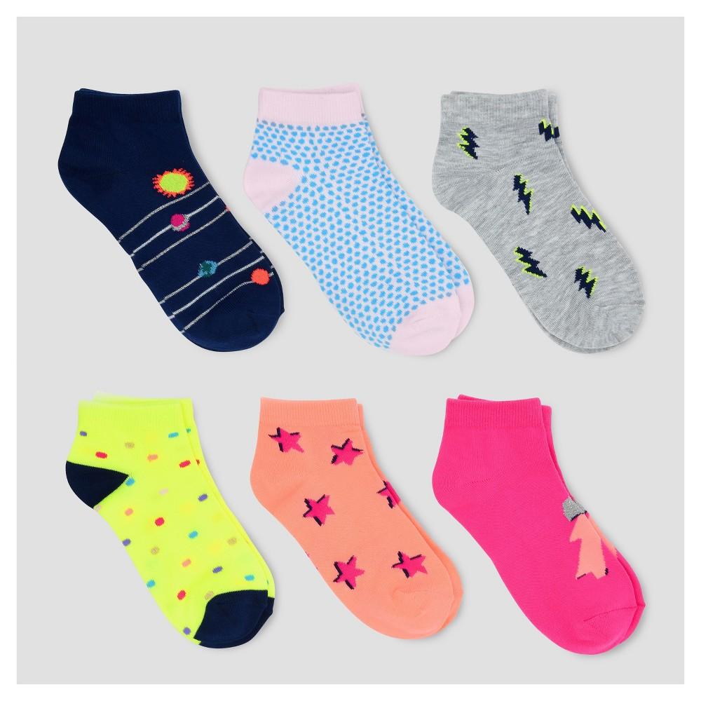 Girls Ankle Socks 6pk - Cat & Jack S, Multicolored