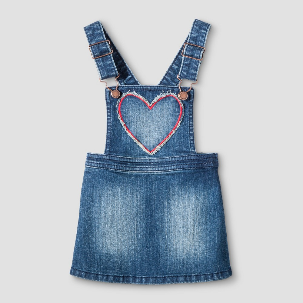 Toddler Girls Full Skirtall - Genuine Kids from OshKosh Medium Denim Wash 18M, Size: 18 M, Blue