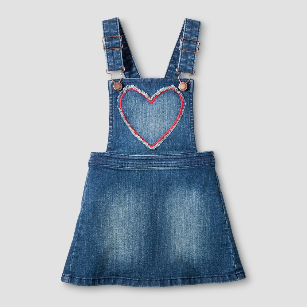 Toddler Girls Full Skirtall - Genuine Kids from OshKosh Medium Denim Wash 5T, Blue
