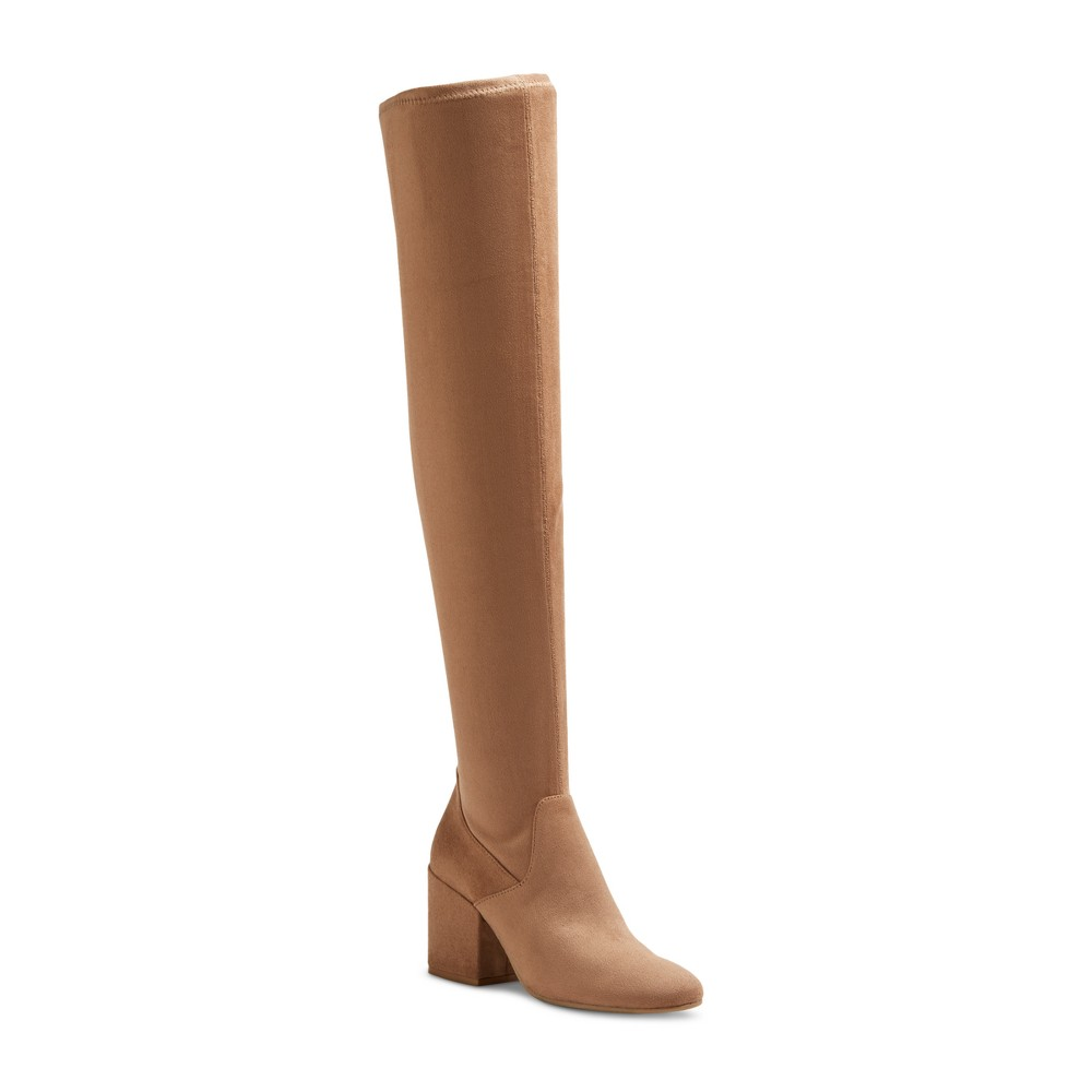 Womens dv Cayla Over the Knee Boots - Light Taupe 5.5
