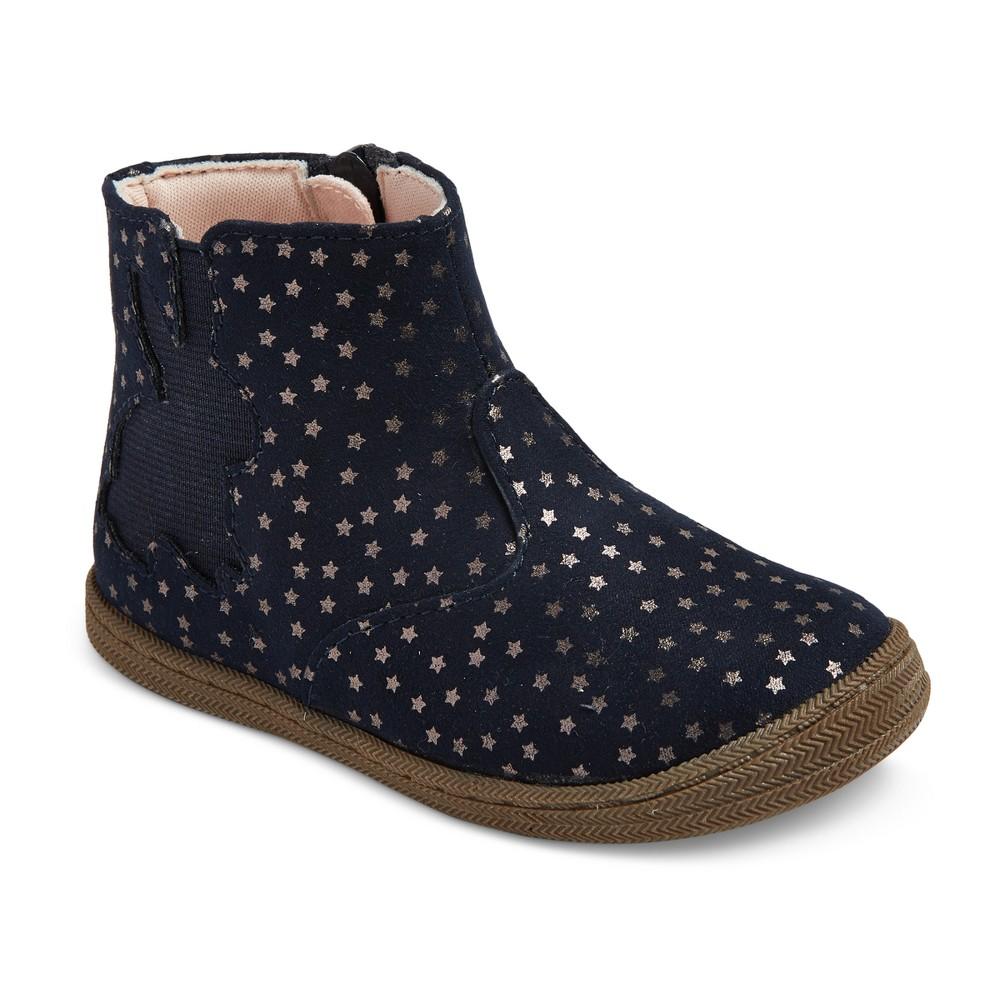 Toddler Girls Kalyssa Star Ankle Boots 12 - Cat & Jack - Navy, Blue