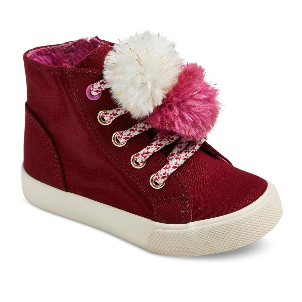 Toddler Girls Kisa High Top Sneakers 7 - Cat & Jack - Burgundy, Red