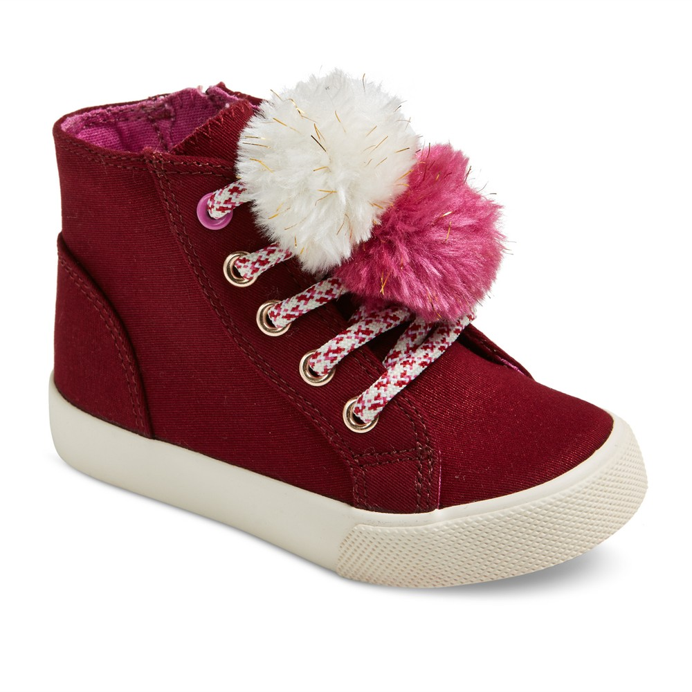 Toddler Girls Kisa High Top Sneakers 11 - Cat & Jack - Burgundy, Red