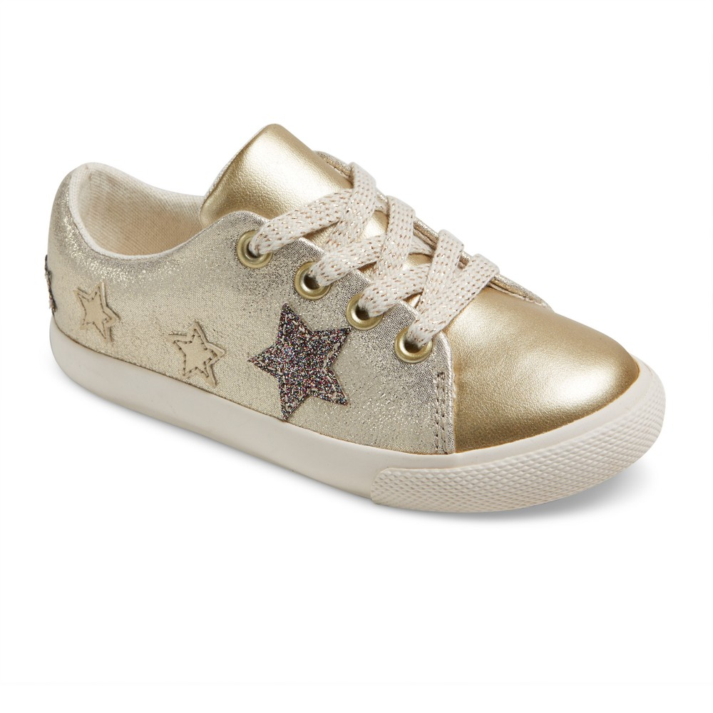 Toddler Girls Jaida Low Top Sneakers 9 - Cat & Jack - Gold