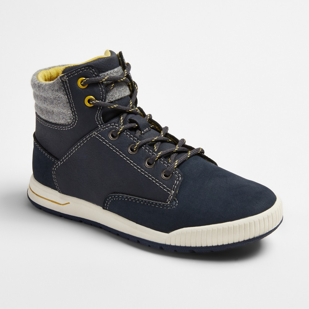 Boys Nick Casual High Top Sneakers - Cat & Jack Navy 13, Blue