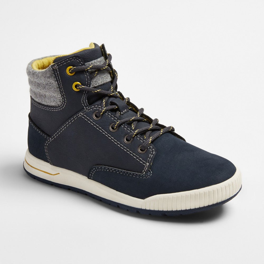 Boys Nick Casual High Top Sneakers - Cat & Jack Navy 3, Blue