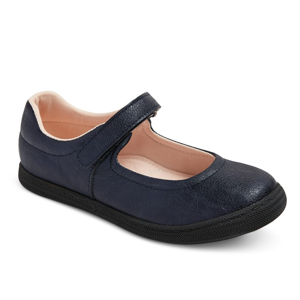 Girls Samantha Uniform Ballet Flats Cat & Jack - Navy (Blue) 5