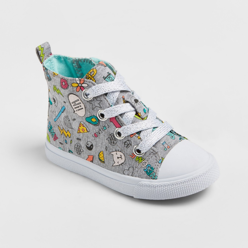 Toddler Girls Jory High Top Sneakers 10 - Cat & Jack, Multicolored