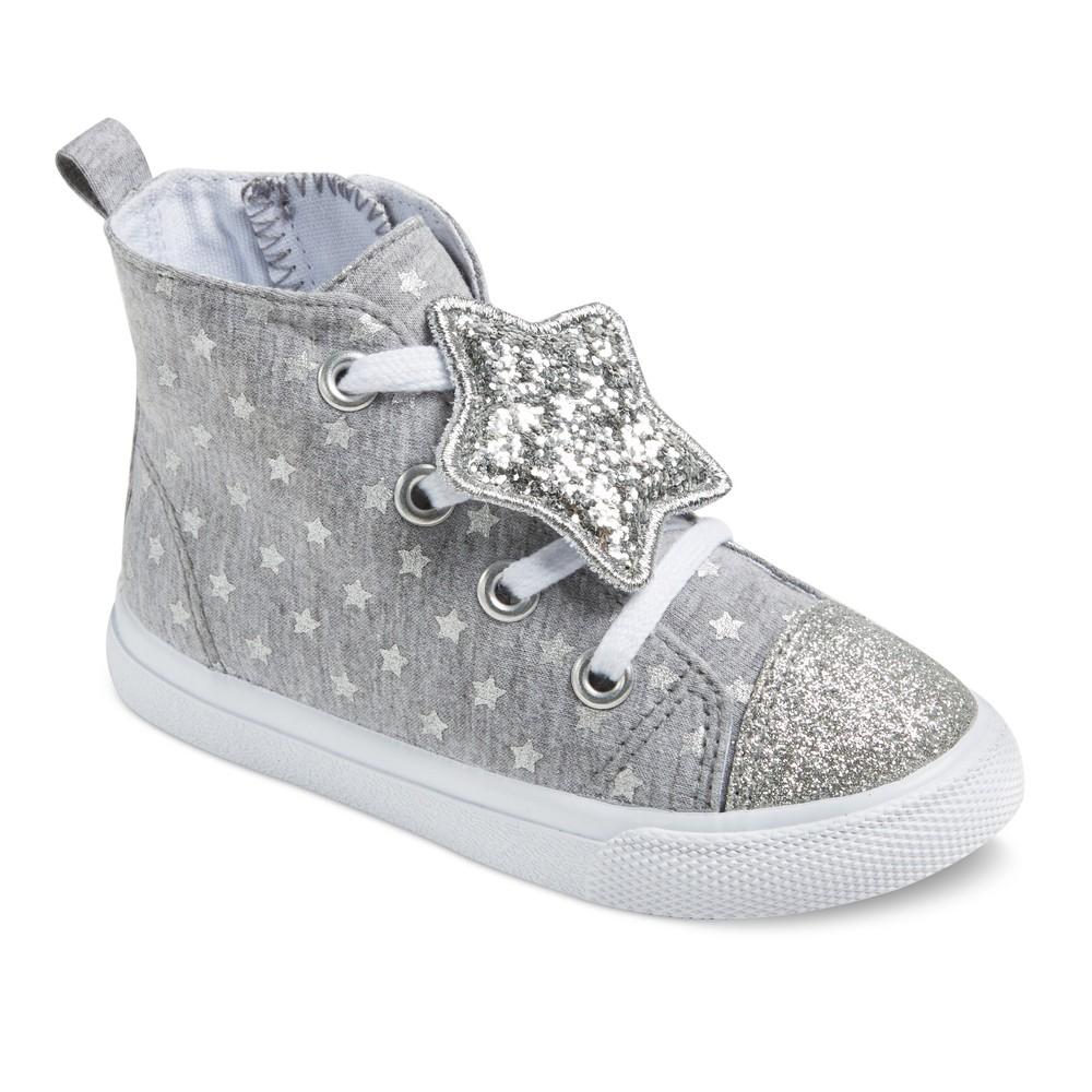 Toddler Girls Jory High Top Sneakers 8 - Cat & Jack - Gray