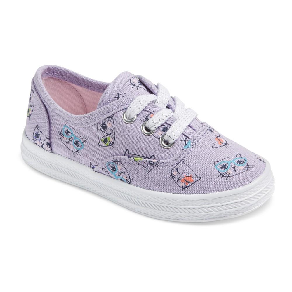 Toddler Girls Mel Low Top Polka Dot Sneakers 5 - Cat & Jack - Purple
