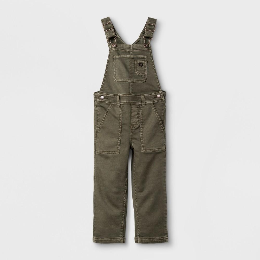Toddler Boys Overalls Genuine Kids from OshKosh - Olive 2T, Green