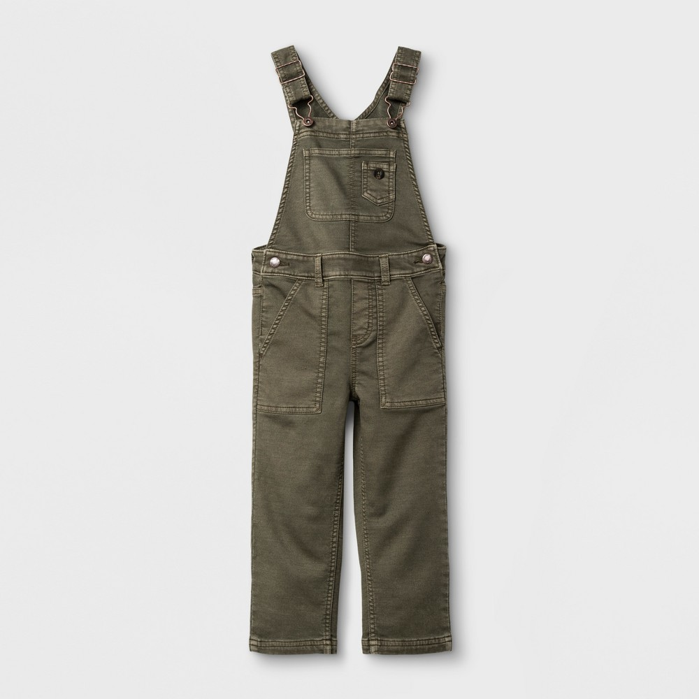 Toddler Boys Overalls Genuine Kids from OshKosh - Olive 4T, Green
