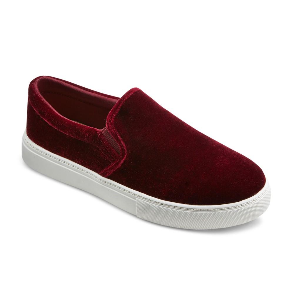 Womens Charlotte Velvet Sneakers - Mossimo Supply Co. Burgundy (Red) 10