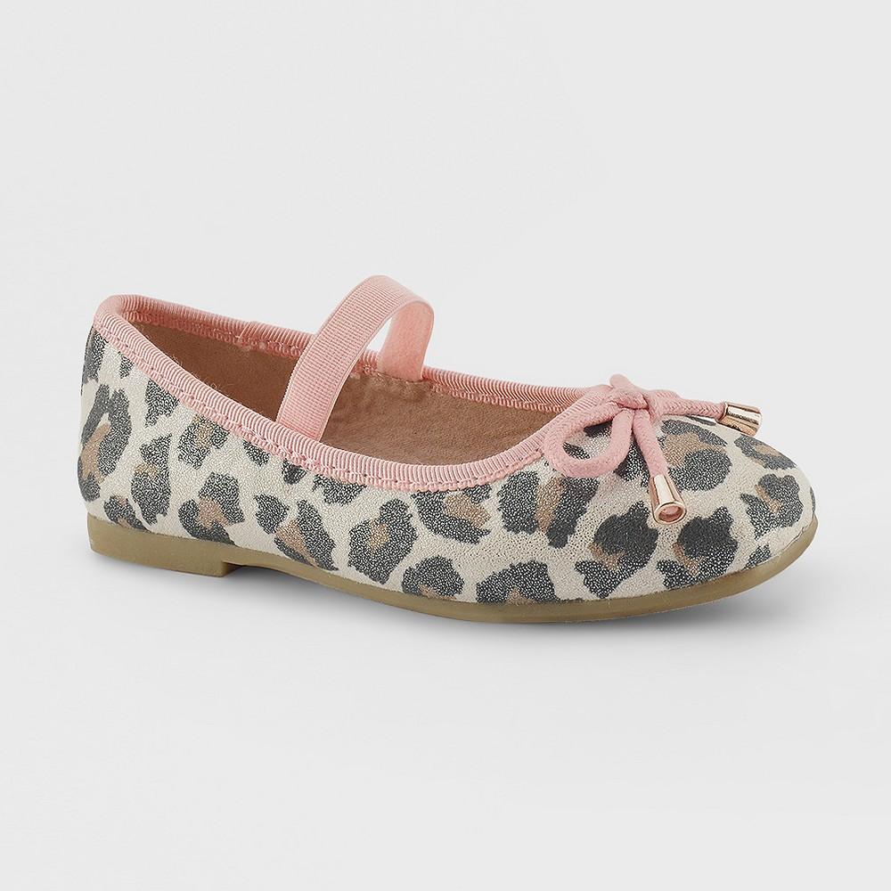 Toddler Girls Tavia Bow Ballet Flats 12 - Cat & Jack - Multi, Multicolored