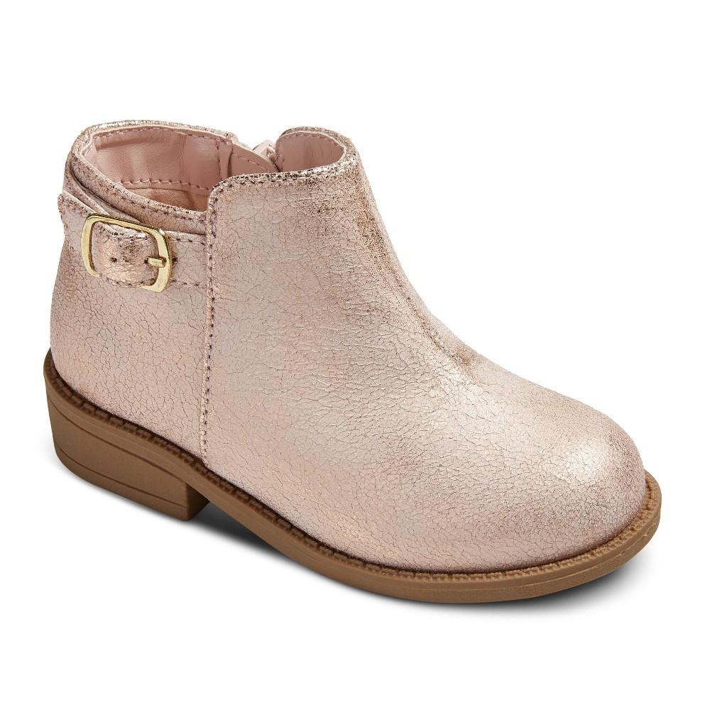 Toddler Girls Karen Ankle Fashion Boots 8 - Cat & Jack - Gold