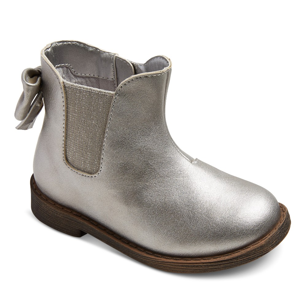 Toddler Girls Tony Ankle Fashion Boots 5 - Cat & Jack - Silver