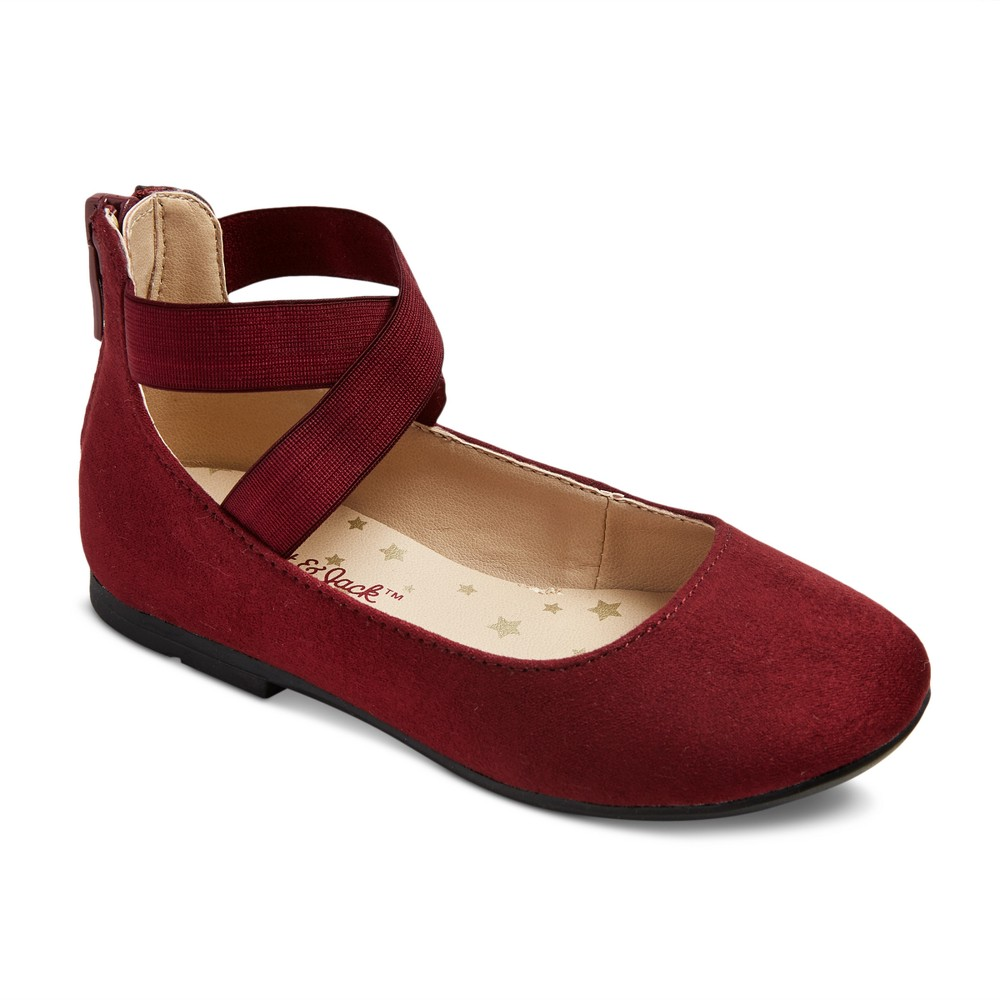 Toddler Girls' Candace Ballet Flats 8 - Cat & Jack - Burgundy (Red)
