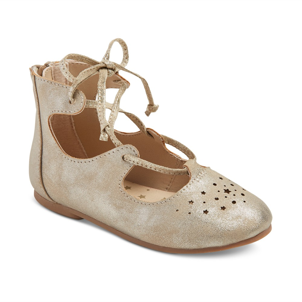 Toddler Girls Drue Ballet Flats 12 - Cat & Jack - Gold