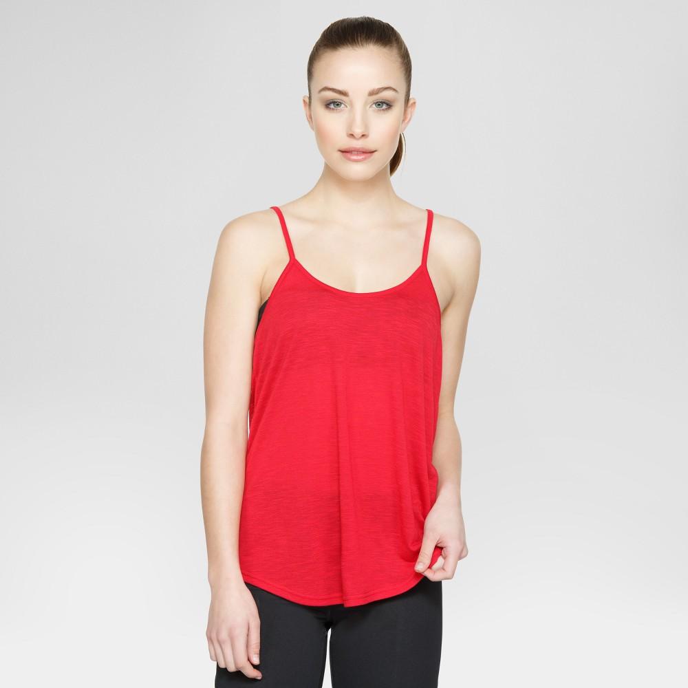 Velvet Rose Women's Open Back Tank Top - Red XL