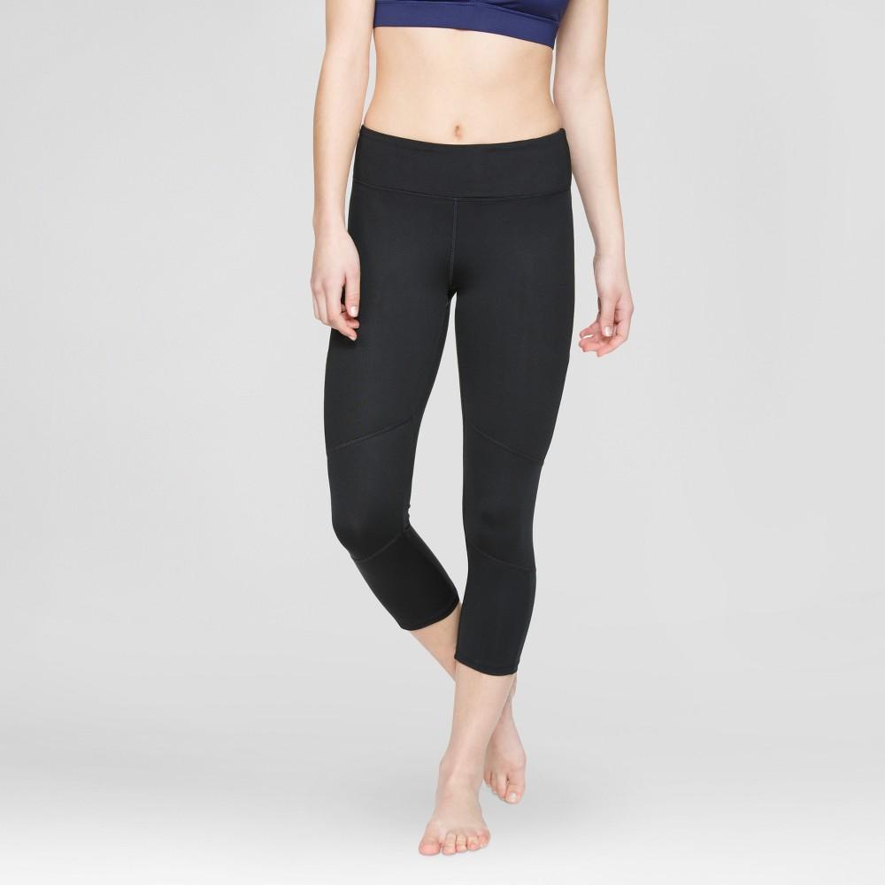 Velvet Rose Womens Printed Mesh Capri Leggings - Black S