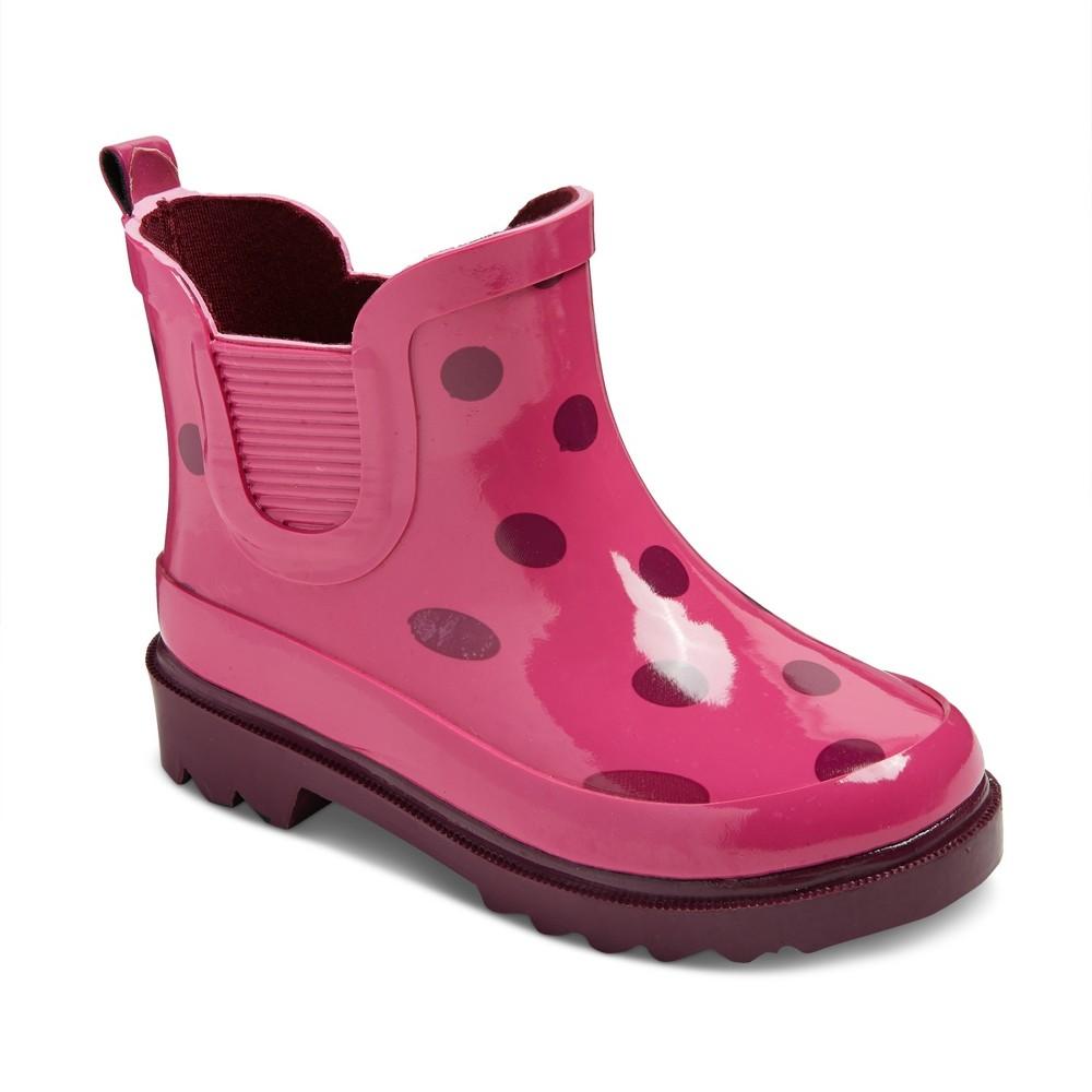 Toddler Girls Tisha Polka Dot Rain Boots Cat & Jack - Pink M, Size: M (7-8)