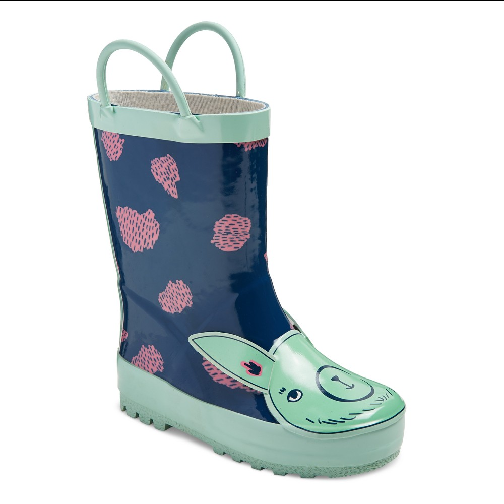 Toddler Girls Bettie Llama Rain Boots Cat & Jack - Navy S, Size: S (5-6), Blue