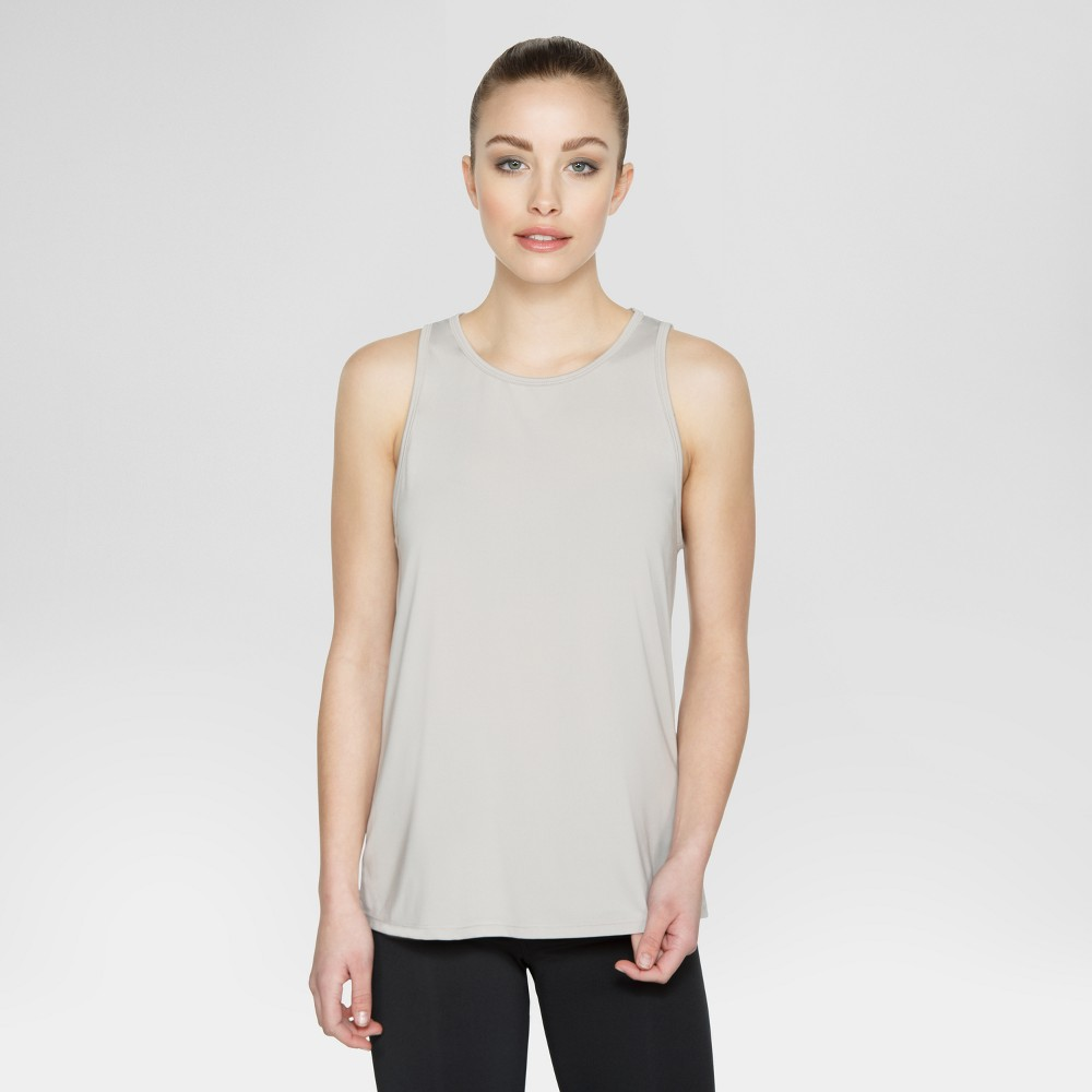 Velvet Rose Women's Strappy Back Tank Top – Silver XS