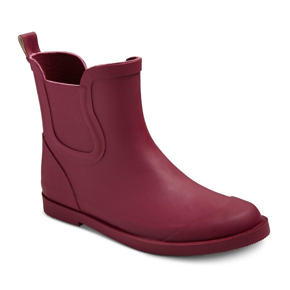 Girls Grace Ankle Rain Boots Cat & Jack - Pink 13