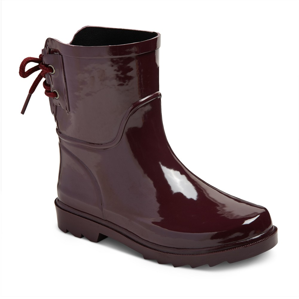 Girls Brandy Ankle Rain Boots Cat & Jack - Red 3