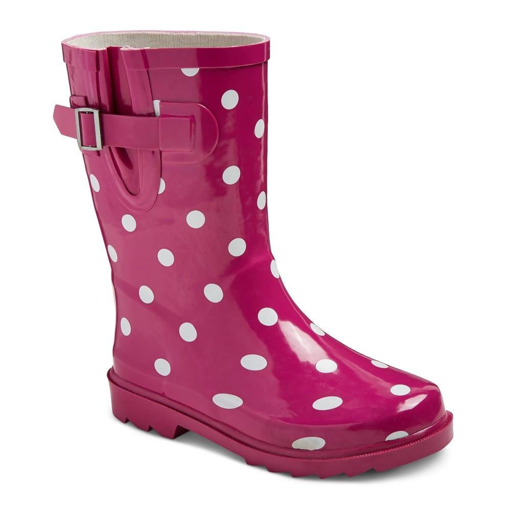 Girls Guzzie Polka Dot Rain Boots Cat & Jack - Pink 5