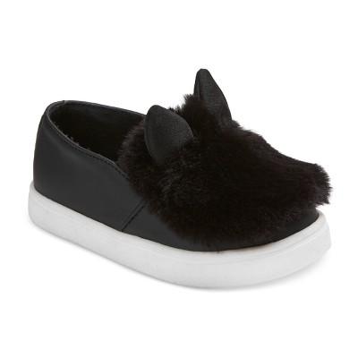 Toddler Girls' Jancy Low Top Sneakers 5 - Cat & Jack™ - Black