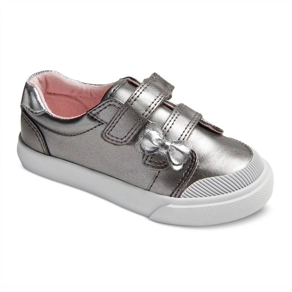 Toddler Girls Janae Double Strap Velcro Sneakers 12 - Cat & Jack - Silver