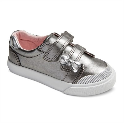 Toddler Girls' Janae Double Strap Velcro Sneakers 7 - Cat & Jack™ - Silver