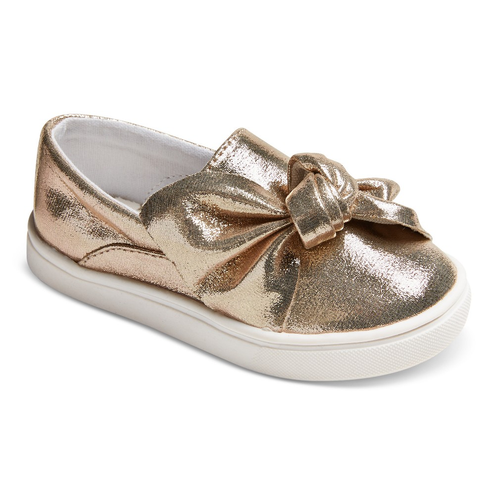 Toddler Girls Catina Low Top Sneakers 8 - Cat & Jack - Gold