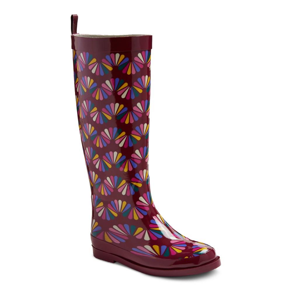 Girls Gigi Printed Rain Boots Cat & Jack - 4, Multicolored