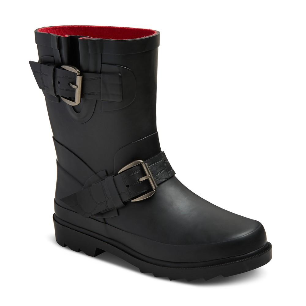 Girls Glory Moto Rain Boots Cat & Jack - Black 1