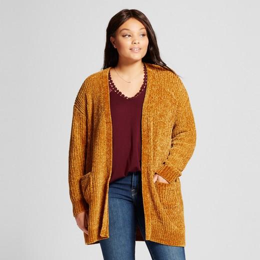 Women's Plus Size Chenille Cardigan - Ava & Viv™ : Target