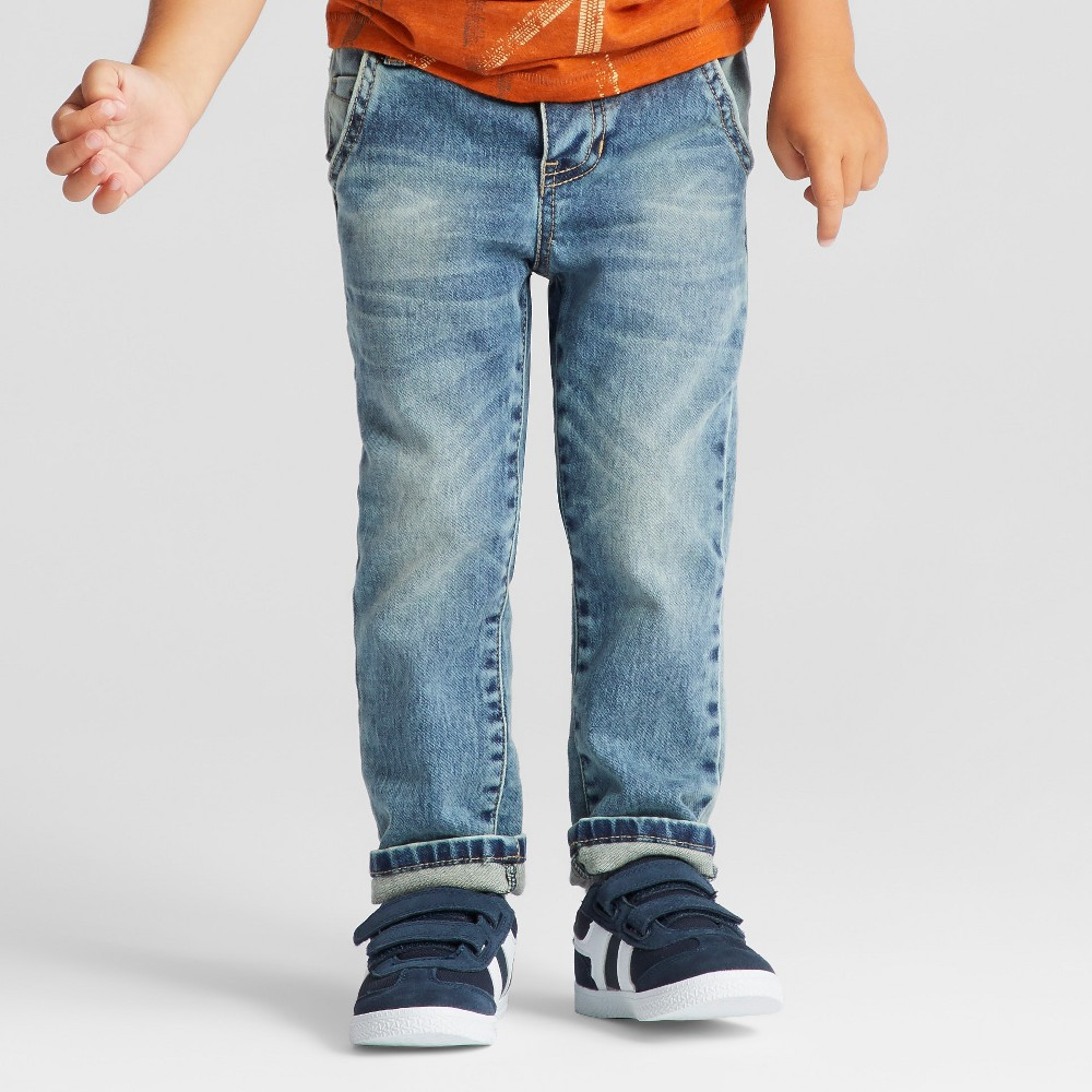 Toddler Boys Jeans Genuine Kids from OshKosh - Medium Wash 12M, Size: 12 Months, Blue