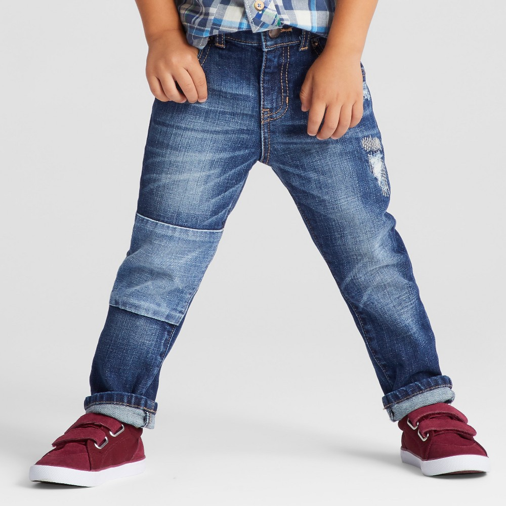 Toddler Boys Jeans Genuine Kids from OshKosh - Dark Wash 2T, Blue