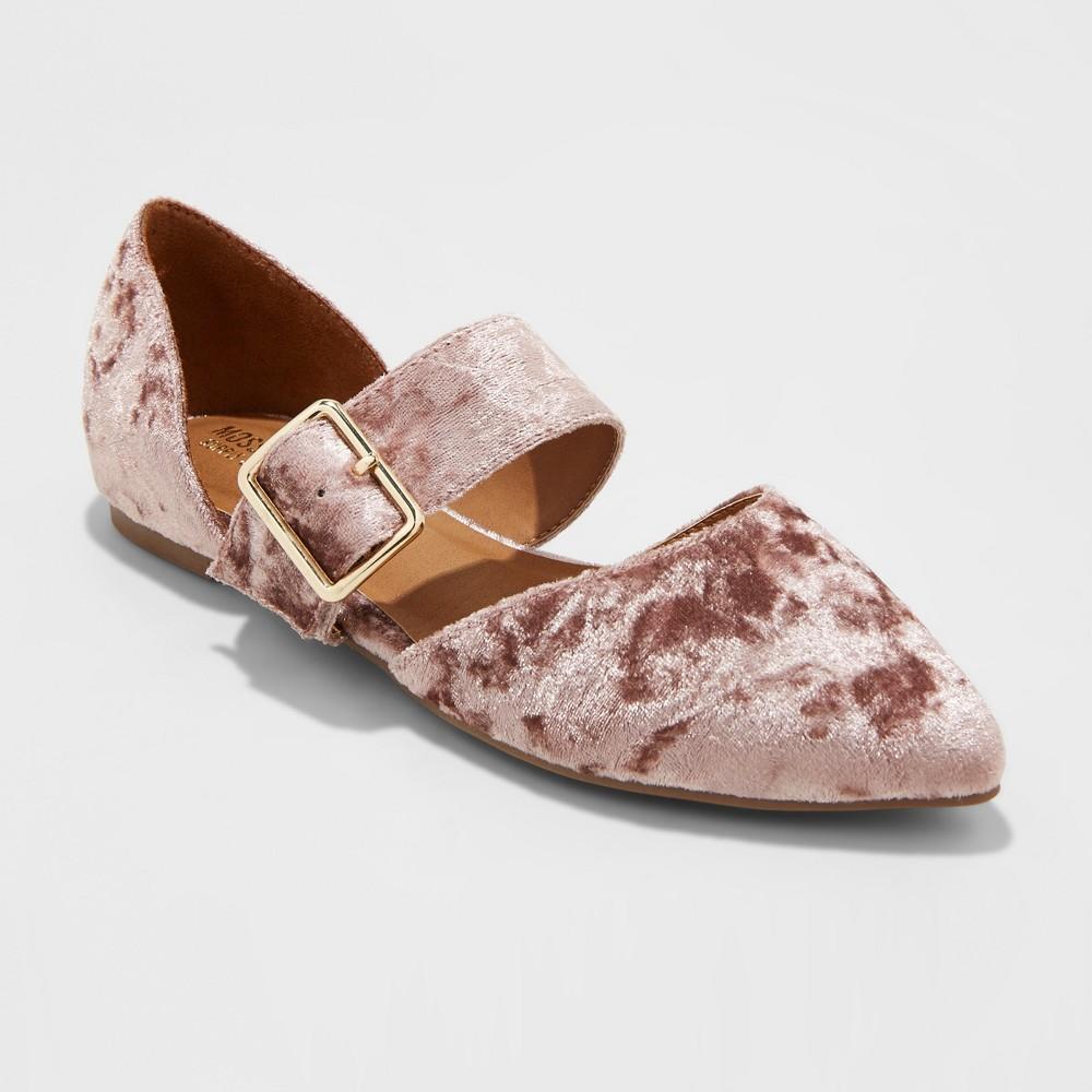 Womens Maliha Velvet Mary Jane Ballet Flats - Mossimo Supply Co. Pink 6
