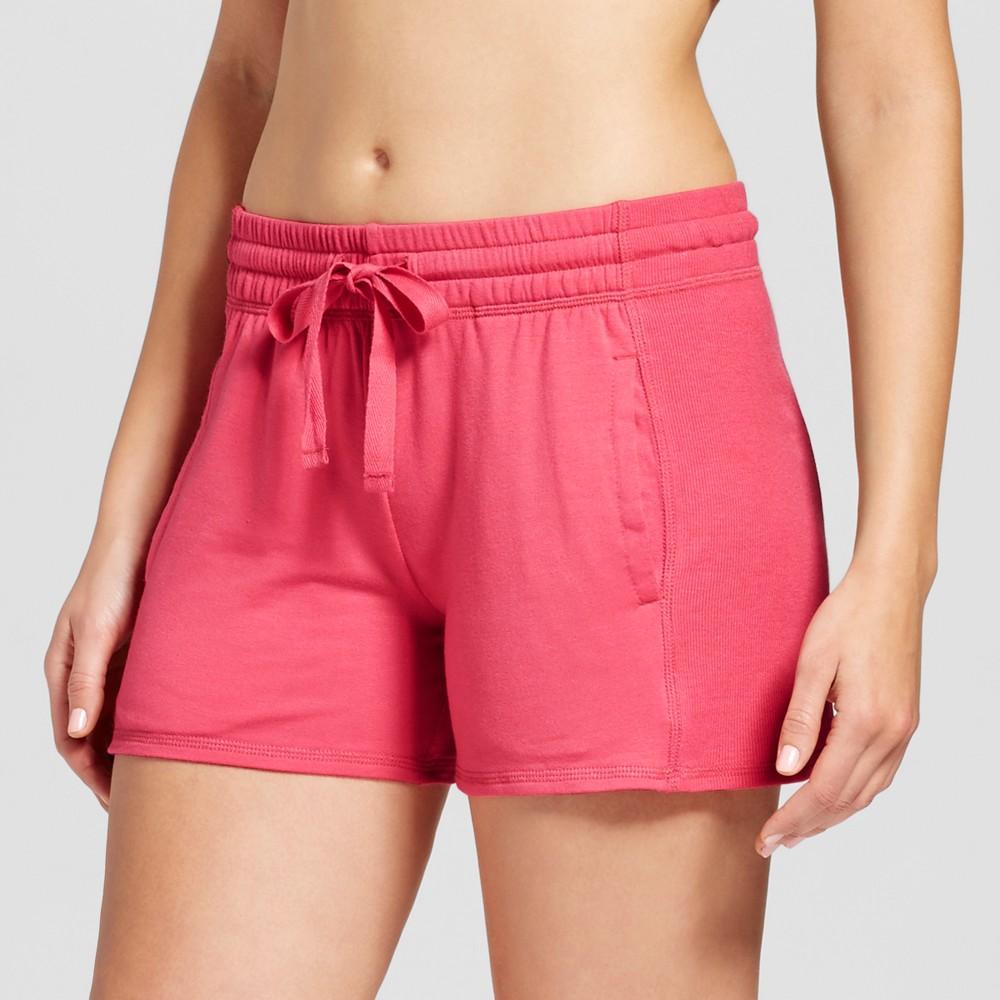 Womens Pajama Shorts Washed Scarlet XS