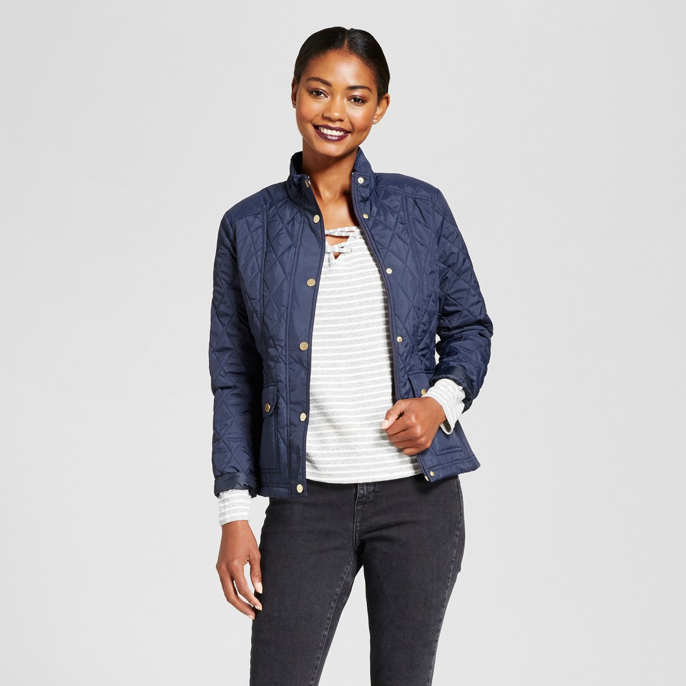 Womens Quilted Jacket - A New Day Navy (Blue) XL