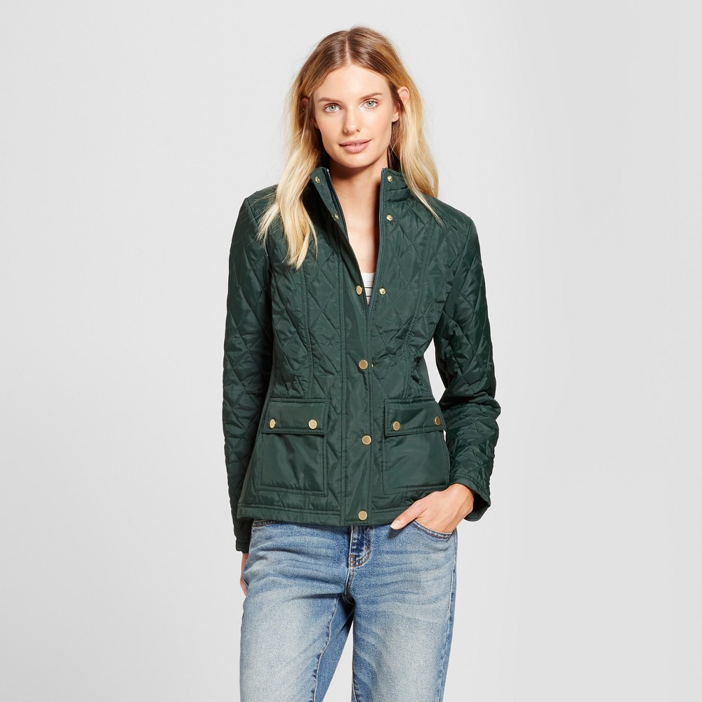 Womens Quilted Jacket - A New Day Forest Green M