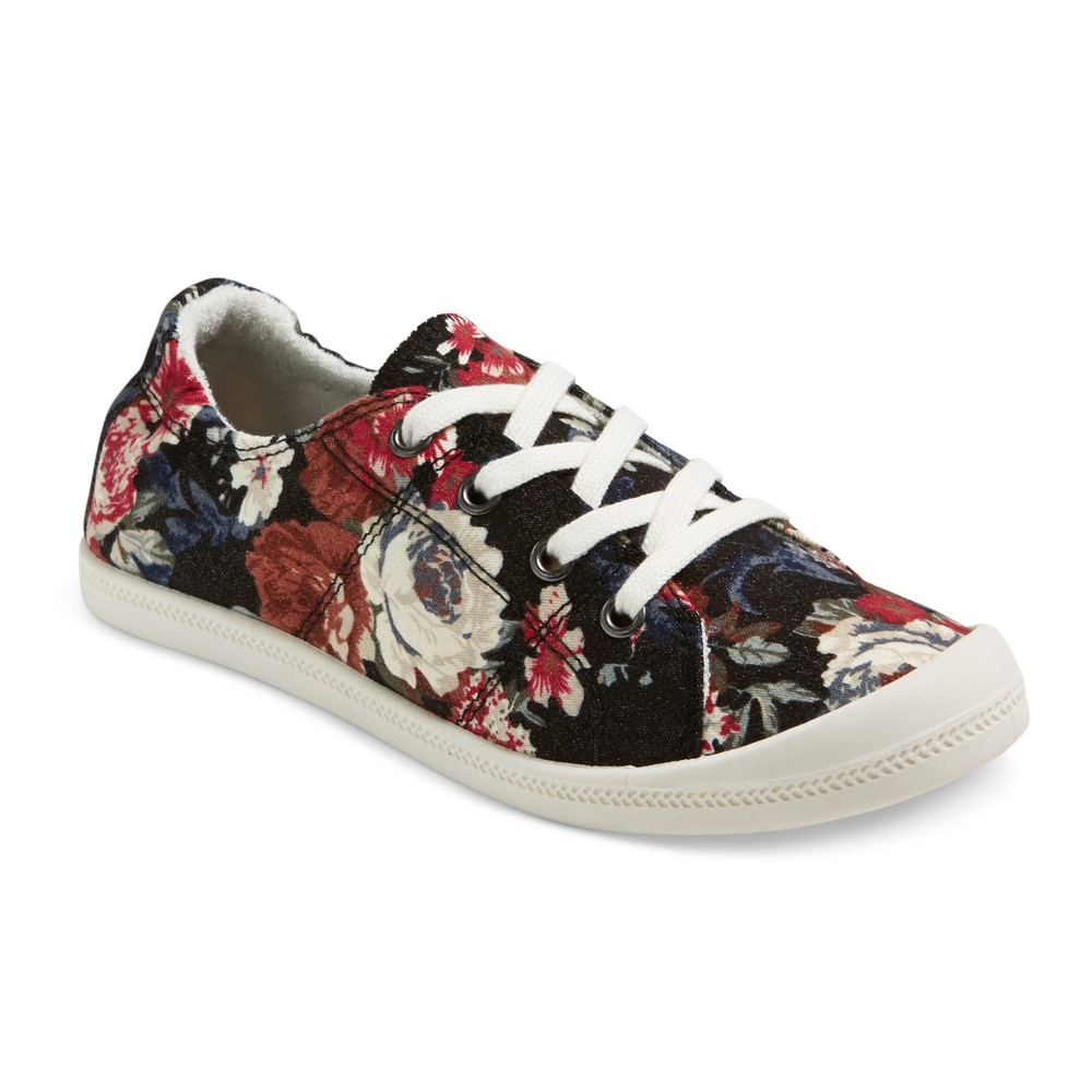 Womens Mad Love Lennie Floral Sneakers - 11, Multicolored