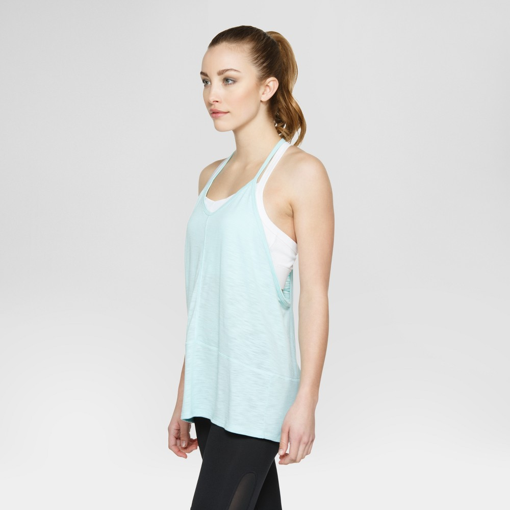 Velvet Rose Womens Tank Top with Side Cut Outs - Green L