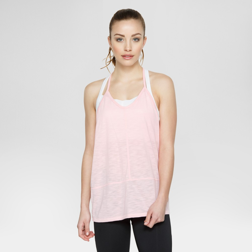 Velvet Rose Womens Tank Top with Side Cut Outs - Pink XS