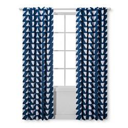 Light Blocking Curtain Panel Triangles - Cloud Island™ - Blue