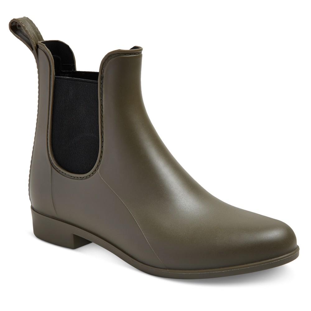 Womens Alex Rain Boots - Merona Green 6W, Size: 11W