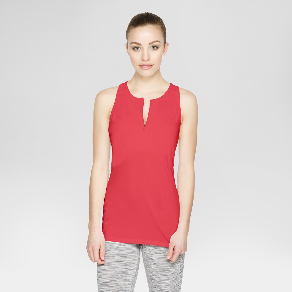 Baseline Womens Tennis Tank - Hot Coral M