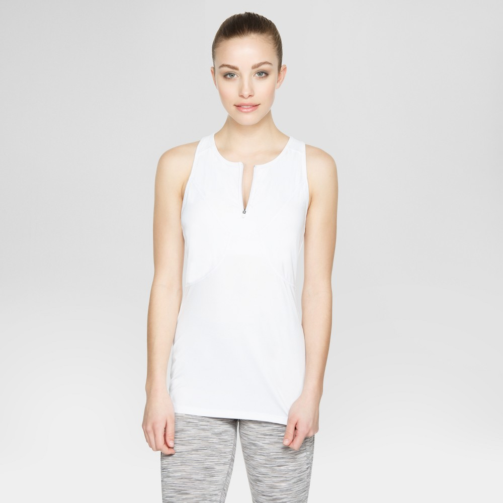 Baseline Womens Tennis Tank - White XS